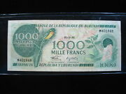 Burundi 1000 Francs 1986 P31 Africa Cows 48 World Banknote Currency Money