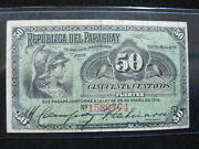 Paraguay 50 Centavos 1916 P137 Paraguayan 30 Currency Banknote Paper Money