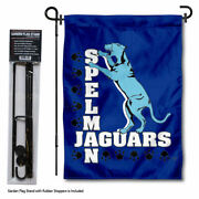 Spelman College Jaguars Garden Flag And Stand Pole Kit