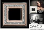 Frame Silver 925 E Gold 18kt Made In Italy Cm.30x30 Glass Cm.15x15 1070/15