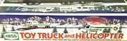 1995 Hess Gasoline Toy Truck And Helicopter In Original Box