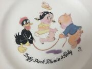 Antique 30s Vtg Edwin Knowles Looney Tunes Daffy Duck Petunia Porky Pig Plate 7