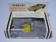 Nip New Old Vintage 1960s Ferrari Battery Operated Remote Control Race Car Toy B