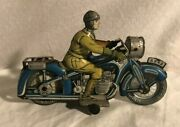 Arnold A-643 Cko Tin Wind Up Motorcycle 1940s Germany