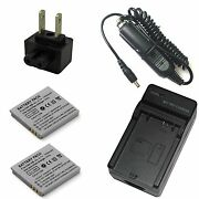 Charger + 2x Battery For Canon Powershot Sd400 Sd430 Sd450 Sd600 Digital Elph