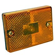 Marker Light Rectangle And Incandescent. Amber Color. Stud-mount. Optronics Brand