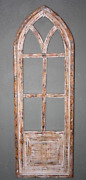 Wooden Antique Style Church Window Frame Primitive Wood Gothic 34 Shabby