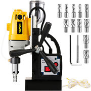Md-40 Electric Magnetic Drill Press 1.5 Boring W/11 Pcs Hss Annular Cutter Bits