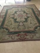 Antique 8 X 10 Hand Made French Aubusson Weave Rug Wool Savonnerie Design Needle