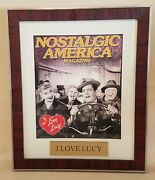 Lucille Ball I Love Lucy Nostalgic America Magazine Framed With Name Plate
