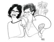 Al Hirschfeldand039s Mick Jagger And Keith Richards Hand Signed Limited Ed Lithograph