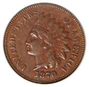 1870 1c Pcgs Xf45 S-5 Fs-102 Rare Indian Cent Misplaced Date And Ddo Variety