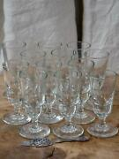 Set Of 12 Antique French Absinthe Glasses