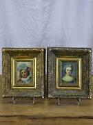 Pair Of Antique French Portraits