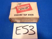 E53 Vintage Chrome Rheingold Extra Dry Lager Beer Tap Handle Knob In Box Nm