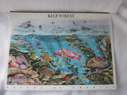 Kelp Forest Sheet Of 10 Usps 44c Stamps Souvenir Page Undersea Ocean Nature 11th