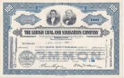 Eleven Stock Certificates, Lehigh Coal And Navigation Company Common Stock, 1955