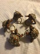 Jay Strongwater Turtle Napkin Ring Holder Crystal 5x