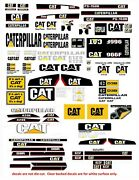 116 Decals For Die-cast Caterpiller Farm Tractors And Diorama