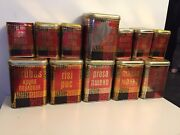 Ussr Canister Kitchen Tin Box Lot Of 12 Soviet Cans Metal Russian Vintage Soviet