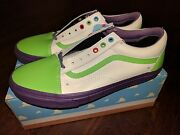 New Old Skool Toy Story 4 Buzz Lightyear Land Shoes White Green Purple Rare