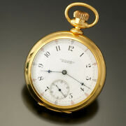 Antique 18k Gold E. Howard And Co. Series 8 Pocket Watch Ca1880s 15 Jewel 18 Size