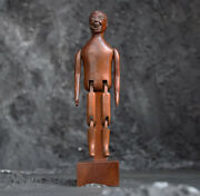 Late 19th Century Carved Mahogany English Jig Doll Figure