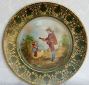 Antique Royal Vienna Hand Painted Cabinet Plate Beehive Mark Signed Amour