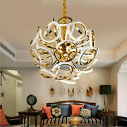 Chandelier Led Ceiling Fixture Curtain Pendant Light Hang Lamp Home Yc.r