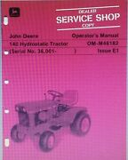 John Deere 140 Lawn Garden Tractor And 54 Front Blade Implement Owner 2 Manual S