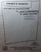 Jacobsen 53275 Gt 12 14 Lawn Garden Tractor Owner And Parts 2 Manuals Hydrostatic