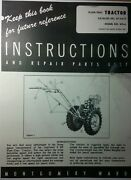 Montgomery Ward Ws-6 Lawn Garden Tractor Owner Engine Service And Parts 2 Manual