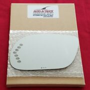 Mirror Glass For 03-05 Buick Park Avenue Driver Side Replacement - Heated-signal