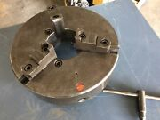 Rohm D1-11 Camlock Metal Lathe 3 Jaw Chuck Reversible Jaws 5.25 Bore With Key