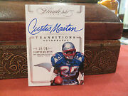Panini Flawless On Card Autograph Transitions Patriots Curtis Martin 18/25 2014