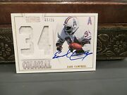 National Treasures Colossal Jersey Autograph Oilers Earl Campbell 02/25 2013