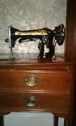 Vintage Singer Sewing Machine In Cabinet Very Good Condition Sphinx China 1970s
