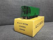 Vintage Sunset Models Ho Scale Green Painted Brass Ac And F 70 Ton Covered Hopper
