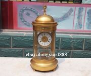 Europe Retro Bronze Gold Wing Orcish Mechanical Clockwork Table Clock Timepiece
