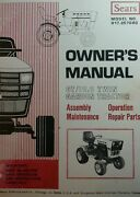 Sears Gt 19.9 Garden Tractor And Snow Thrower Imple Owner And Parts 2 Manual S H.p
