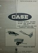 Case 220 222 442 444 Lawn Garden Tractor Mower Blade Cart Implement Parts Manual