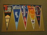 Mlb Lot Of 5 Vintage World Series Champions 2014 2015 2016 2017 And 2018 Pennants