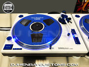 2 Custom White Technic Sl1200 Mk2and039s W Blue Halos Blue Leds Blue Accents