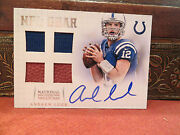National Treasures Autograph Nfl Gear Jersey Auto Rookie Andrew Luck 06/15 2012