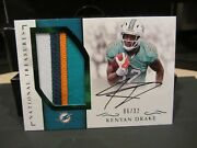 National Treasures On Card Autograph Jersey Dolphins Kenyan Drake 06/32 2016