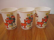 Vintage 1972 Scooby Doo Party Cup Set Happy Birthday Cake Glass Daphne Shaggy