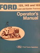 Ford Lgt 125 145 165 Lawn Garden Tractor Owner And Parts 2 Manual S 1977-1983
