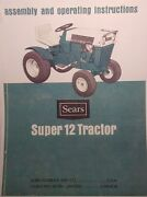 Sears Suburban Ss/12 Tractor And Engine Owners,parts, Service 4 Manuals917.25311