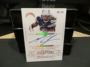 Panini Flawless Gold Imscriptions Autograph Chargers Melvin Gordon 06/10 2015