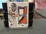 Panini Flawless Blue Dual Patches Jersey Broncos Peyton Manning 14/20 2015